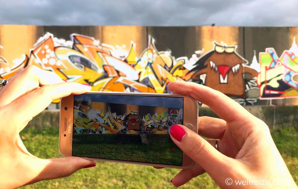 Graffiti-Wand auf der Docke in Glückstadt (c) Claudia Sittner, Weltreize